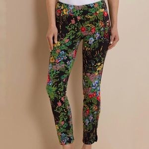 Soft Surroundings In Bloom Pants Midnight Floral
